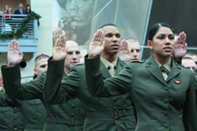 Marines take Oath of Office, National Museum of the Marine Corps